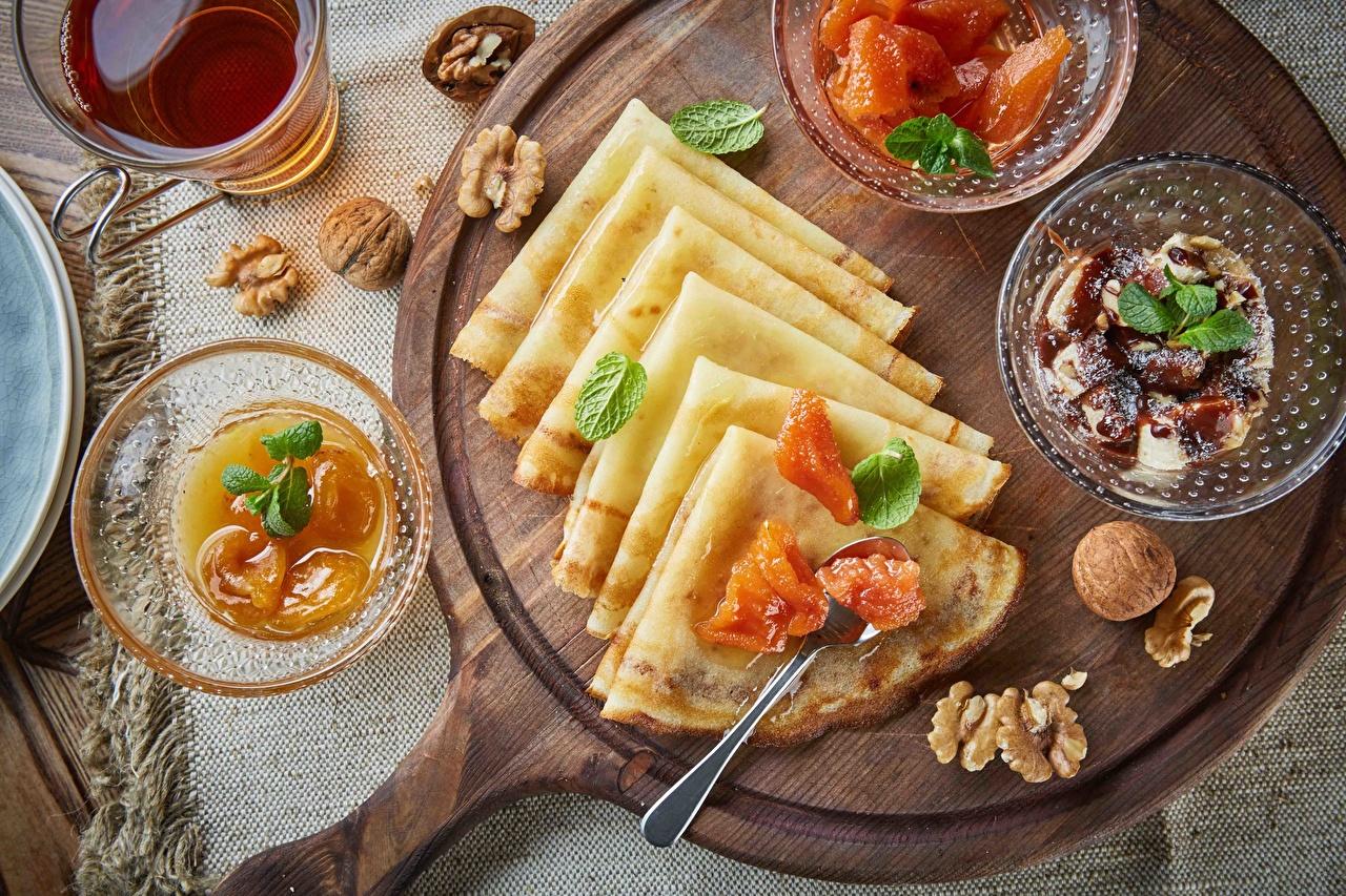 Images hotcake Fruit preserves Food Nuts Jam Pancake Varenye