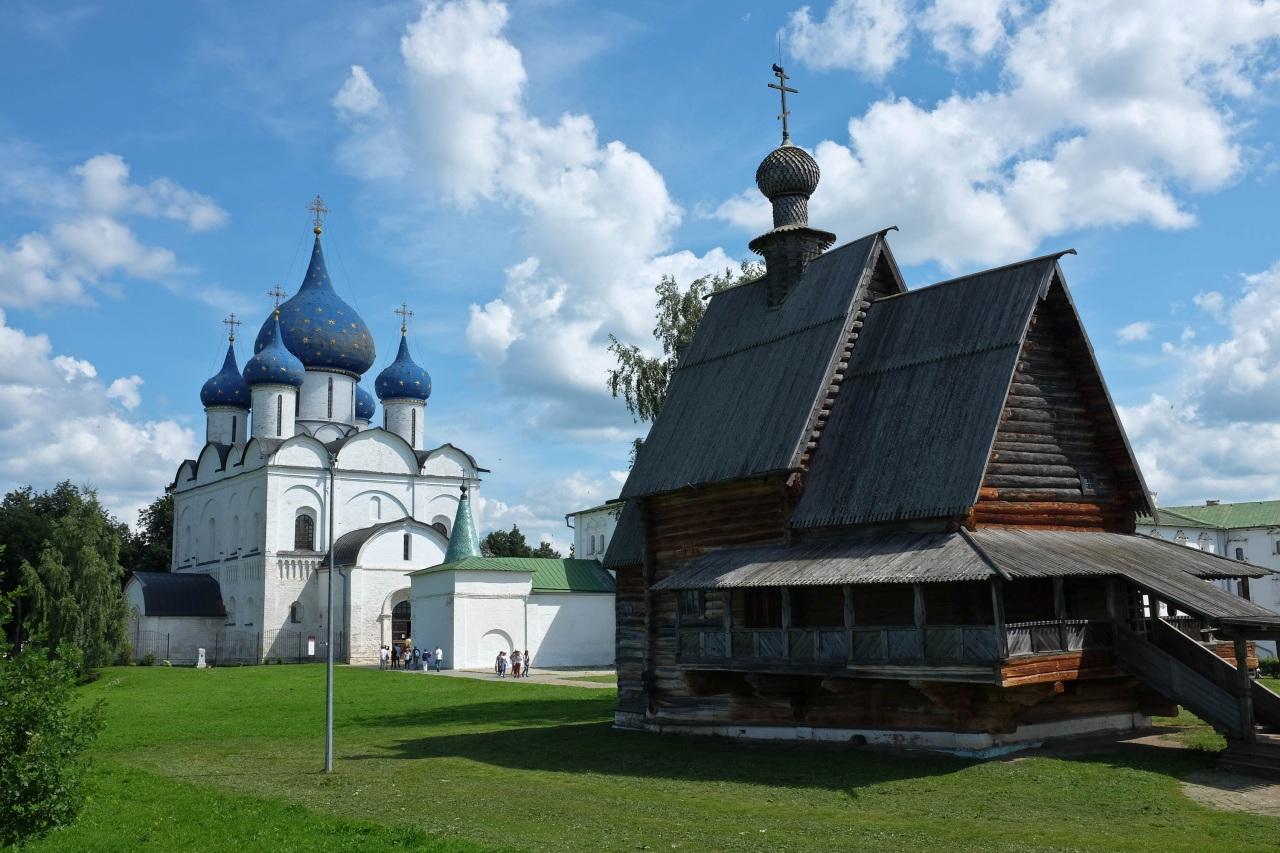 Foto Kerkgebouw Rusland Suzdal Vladimir Oblast Tempel Houten Steden kerk een stad