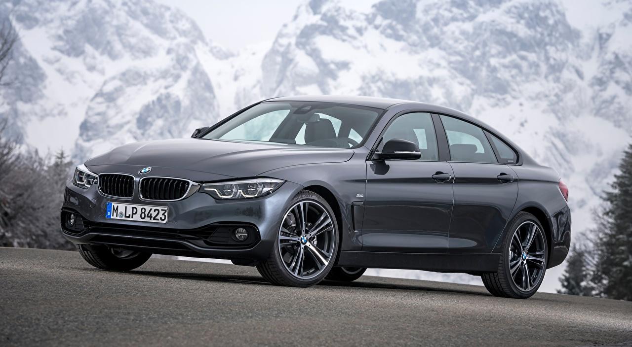 Foto BMW 4-series, Gran Coupe, Sport Line, 2017 Coupe Grau Autos graue graues auto automobil