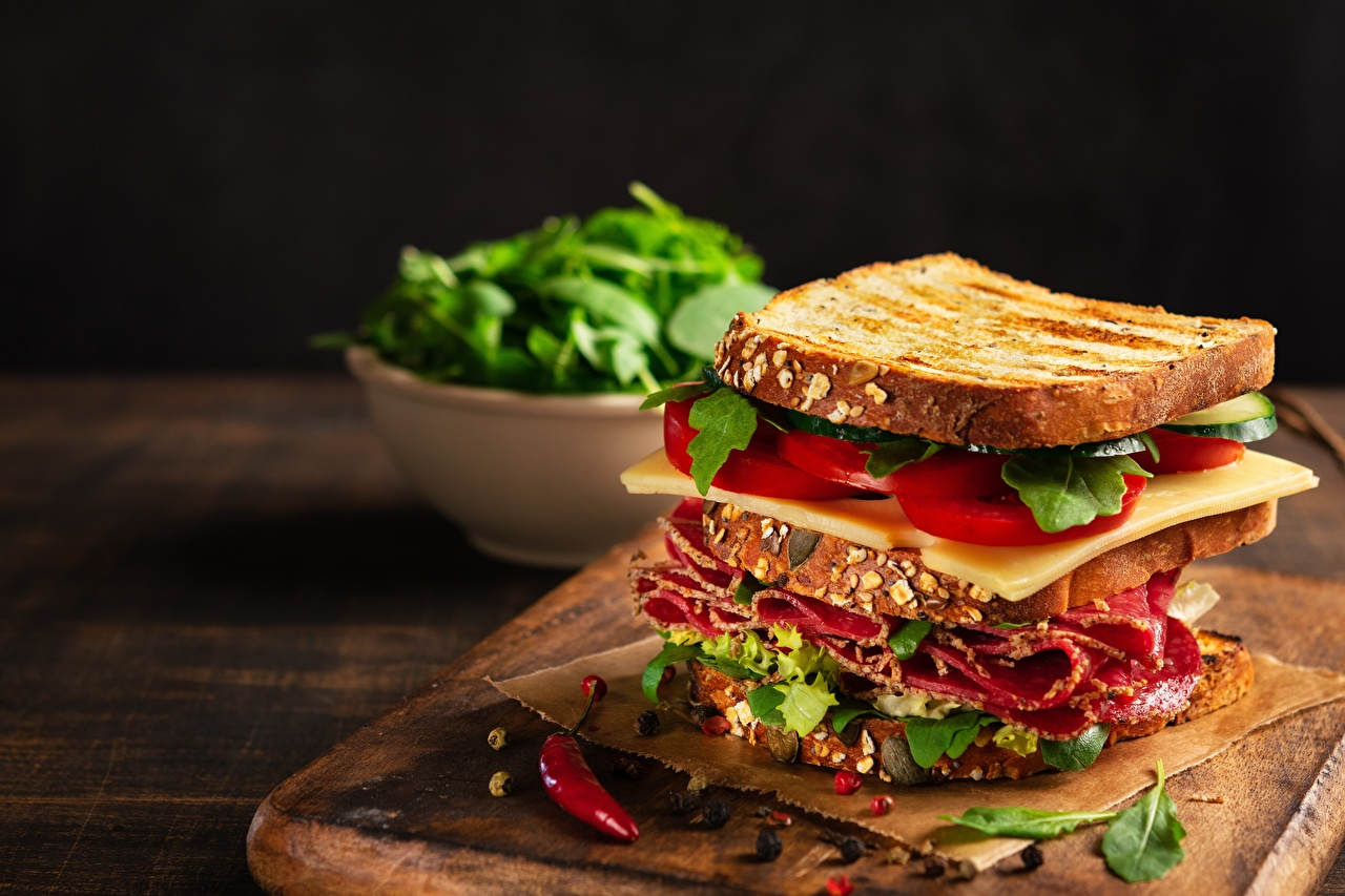 Desktop Wallpapers Sausage Tomatoes Sandwich Cheese Butterbrot Food