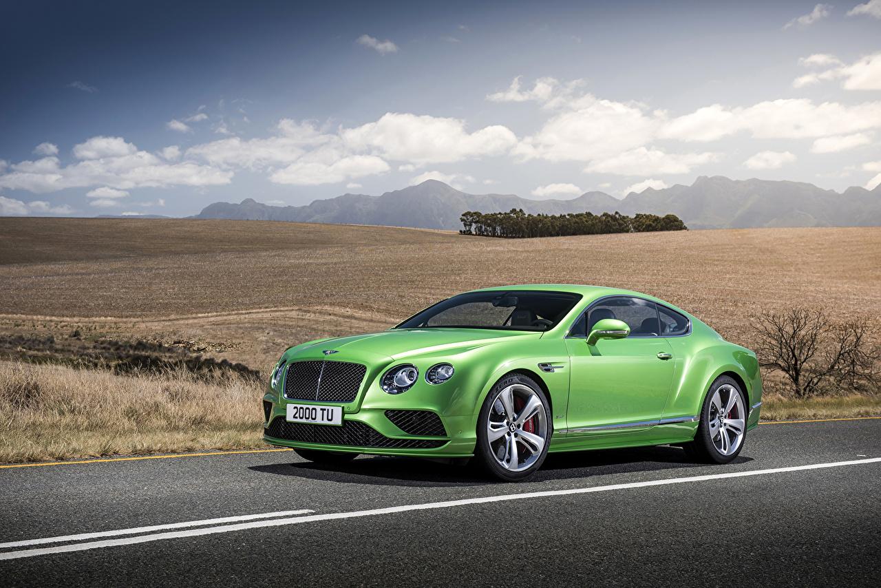 Bentley 2015 Continental GT Speed Amarillo-verde Metálico Lujo autos, automóvil, automóviles, el carro, color lima, caro, caros Coches