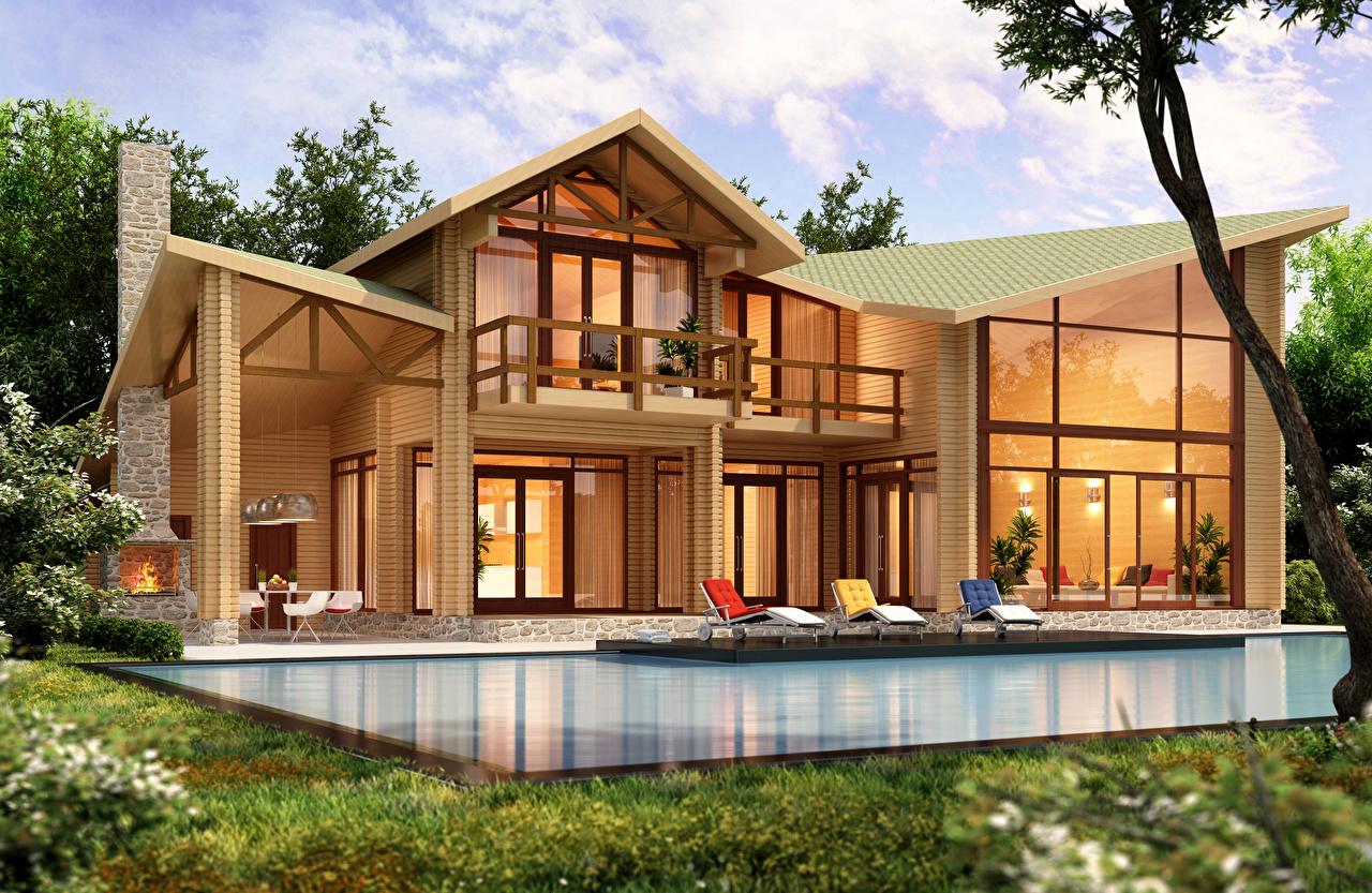 Image 3d Graphics Mansion Building Design