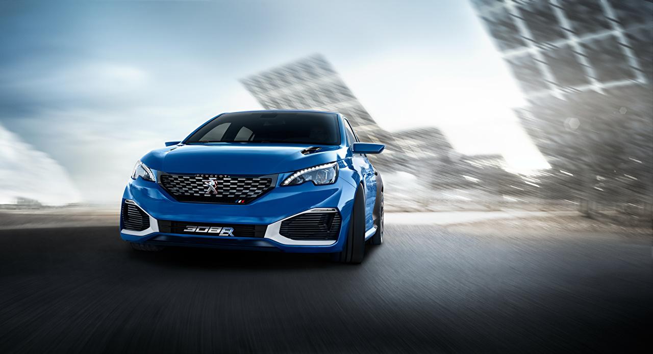 Images Peugeot 2015 308 R HYbrid, Concept Hybrid vehicle Blue Cars Front auto automobile