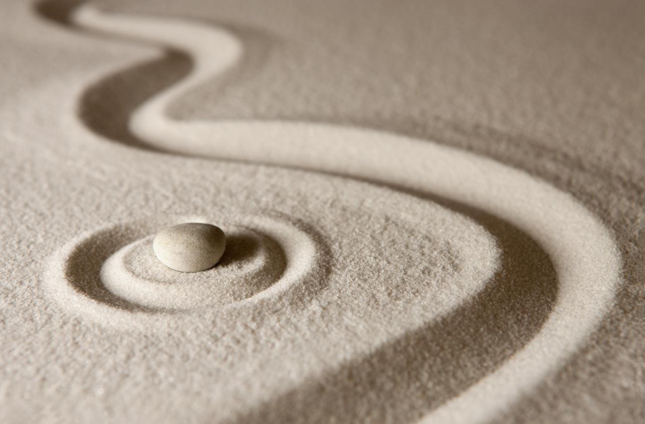 Fotos von Kreis zen Sand Steine Kreise Stein