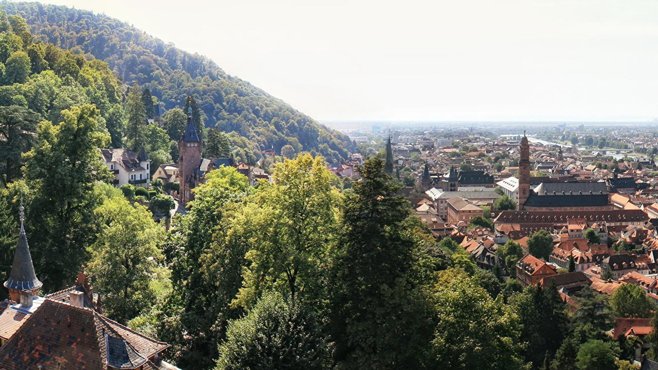 Desktop Wallpapers Germany Heidelberg Houses Cities Building