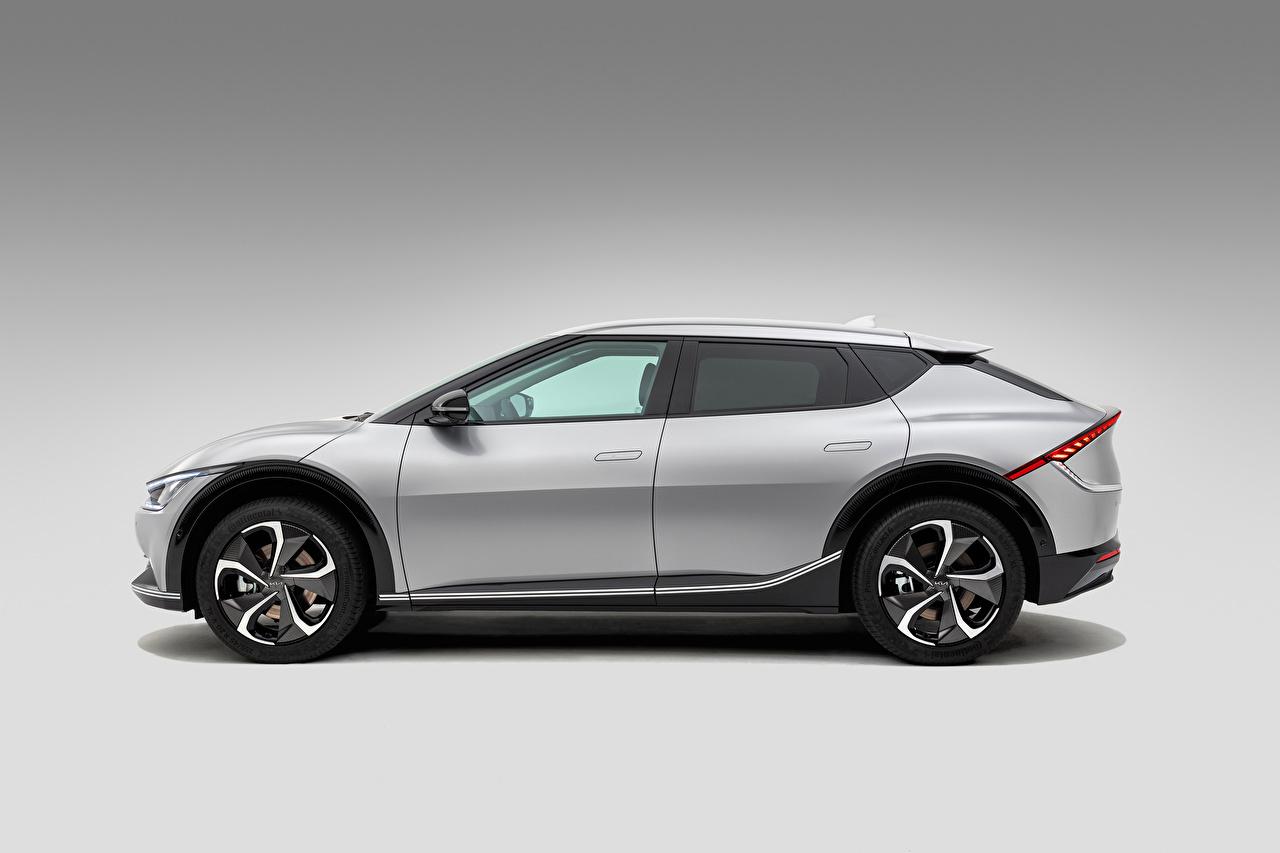 ,起亚汽车,EV6, (Worldwide), 2021,灰色,金屬漆,側視圖,汽车,
