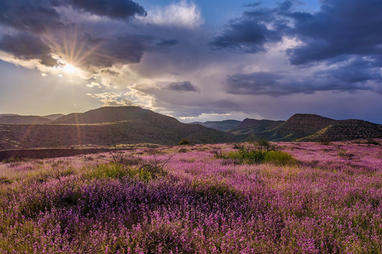 Desktop Hintergrundbilder Vereinigte Staaten Grand Canyon, Clarkdale Berg Natur Sonne Hügel Himmel Wolke USA Gebirge