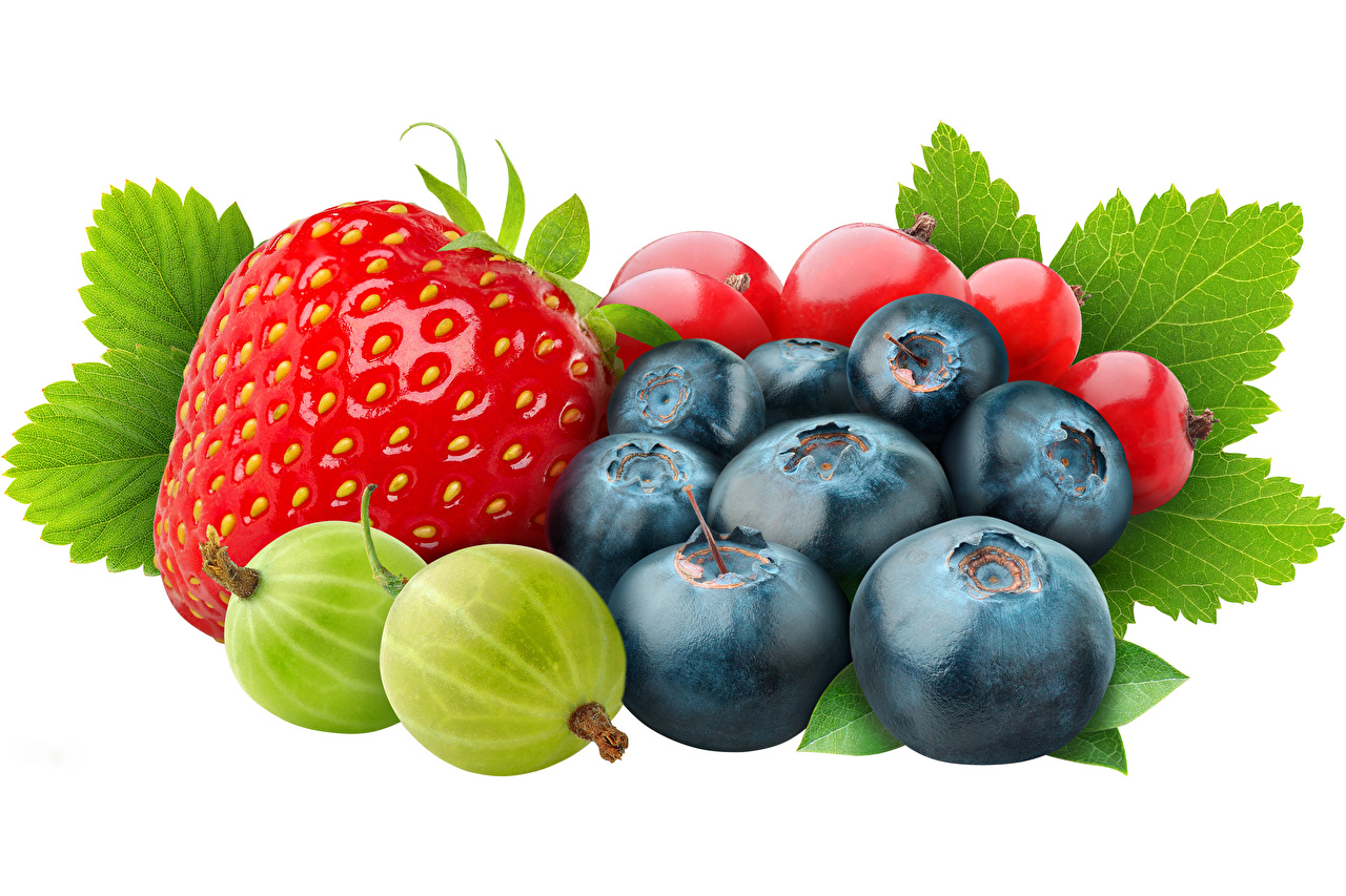 Desktop Wallpapers Leaf Currant Strawberry Gooseberry Blueberries Food Berry Foliage