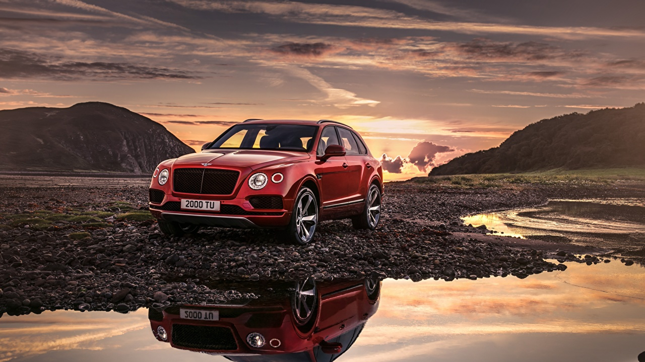 Image Bentley Bentayga 2018 Red Cars auto automobile