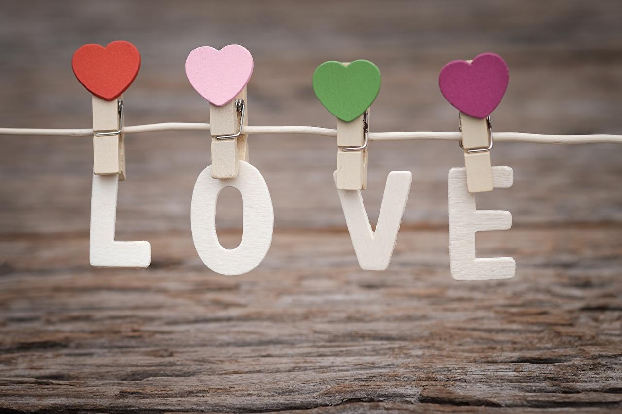 Fotos von Valentinstag englische Herz Wäscheklammer Wort Englisch englisches englischer text