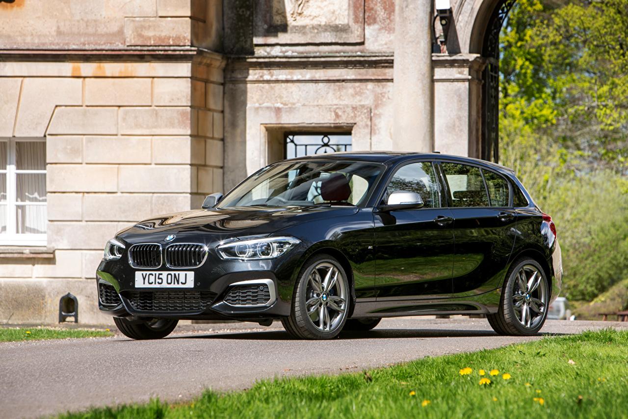 Wallpaper BMW 2015 F20 UK-spec 5-door M135i Black automobile