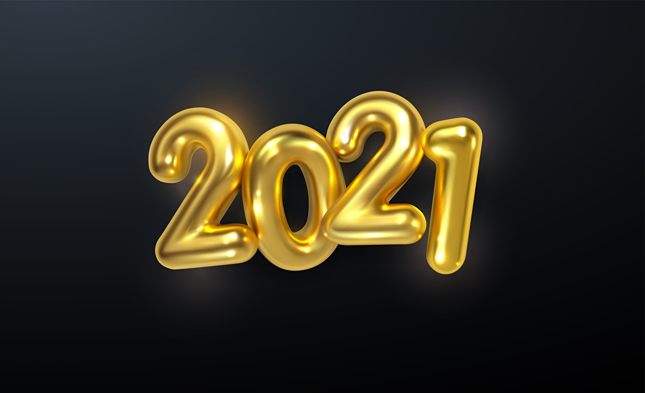 Photo New year 2021 Gold color Black background Christmas