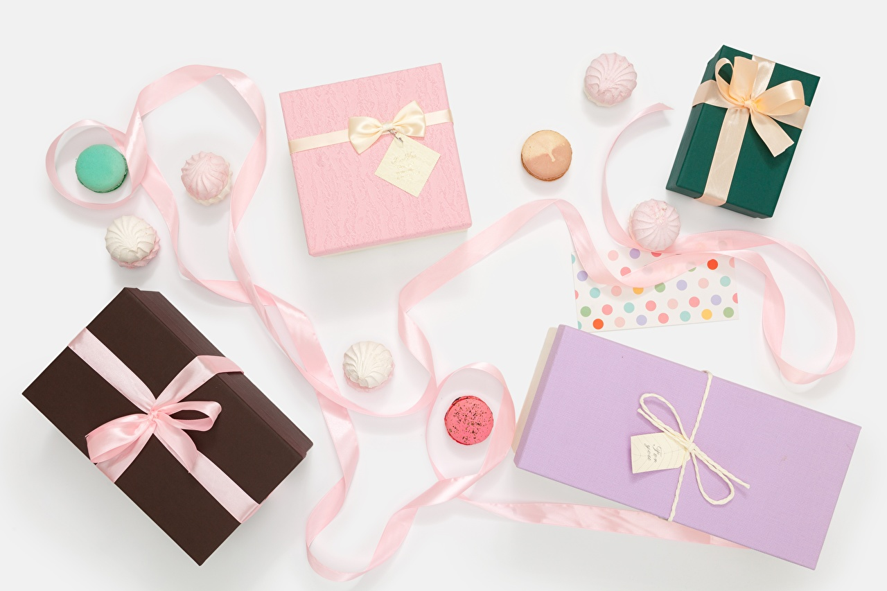 Pictures french macarons Gifts bow knot Macaron present Bowknot