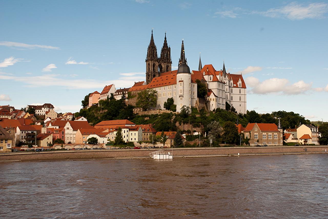 Photos Germany Albrechtsburg castle Coast Rivers Cities Castles river