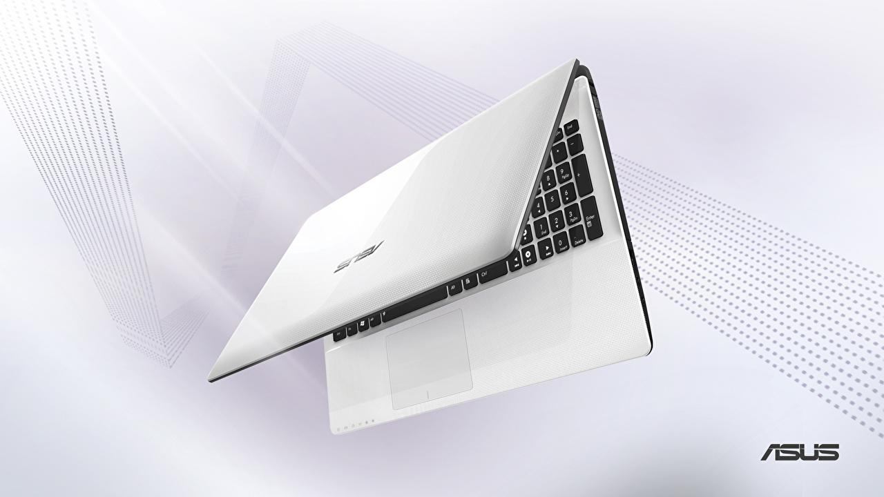 Photo Laptops asus White Closeup Computers