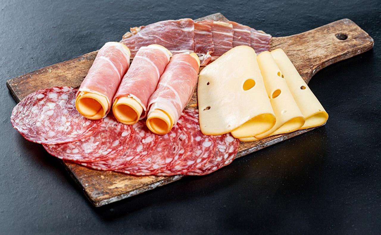 Photos Sausage Ham Cheese Food Sliced food