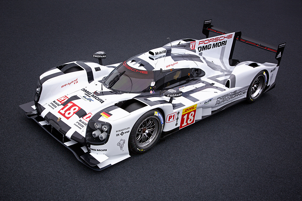 Picture Porsche 2015 919 Hybrid Hybrid vehicle White Cars auto automobile