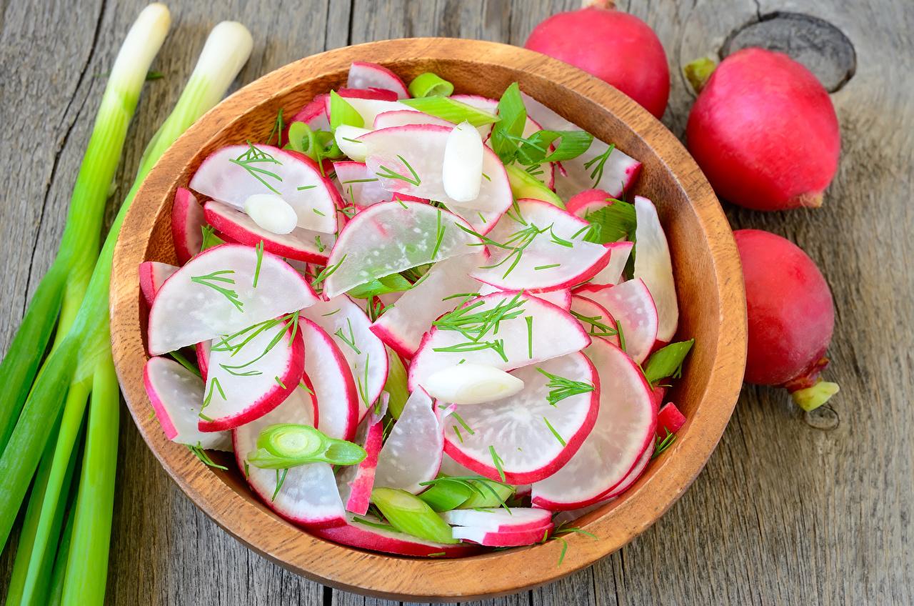 Image Radishes Food Salads Sliced food Wood planks boards