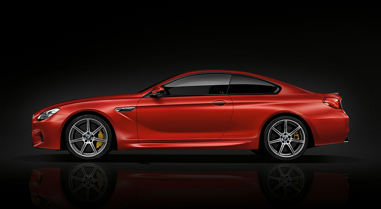 、BMW、M6 Coupe, Competition Package, 2015、赤、メタリック塗、側面図、クーペ、自動車、