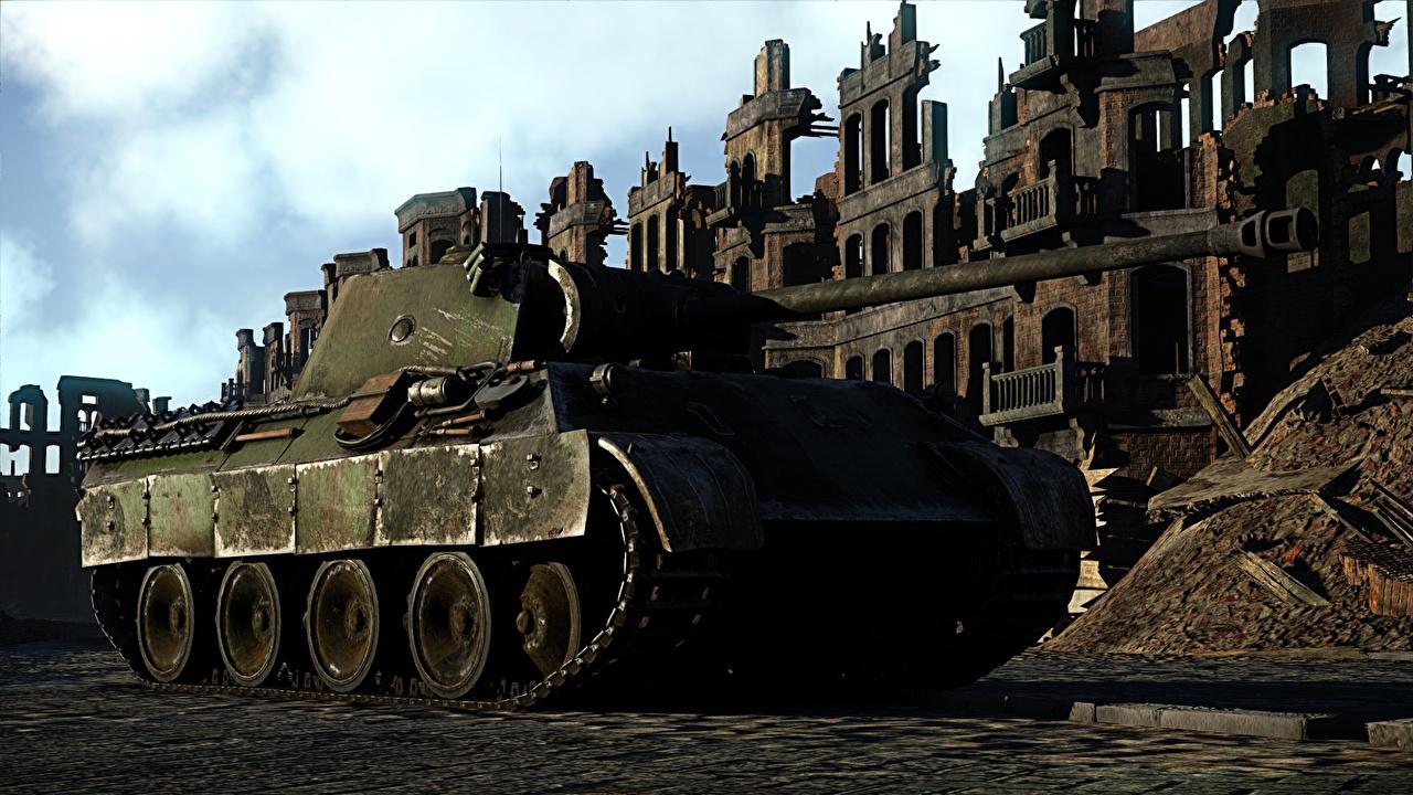 Bilder War Thunder Panzer Deutsch Panther 3D-Grafik Spiele