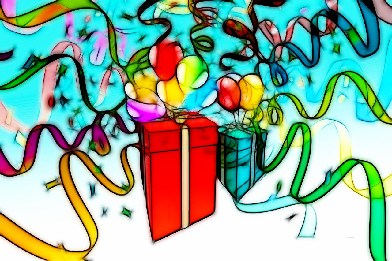 Cumpleaños Regalos Bolas Cinta presente