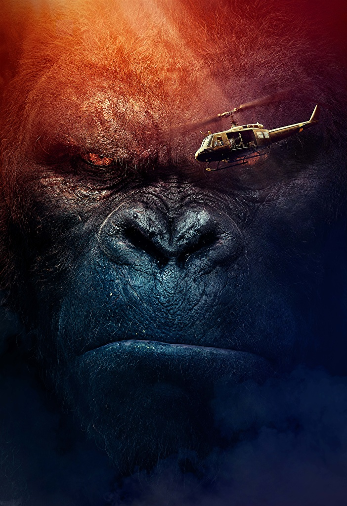 Photo Kong: Skull Island Helicopters film Snout Staring  for Mobile phone helicopter Movies Glance