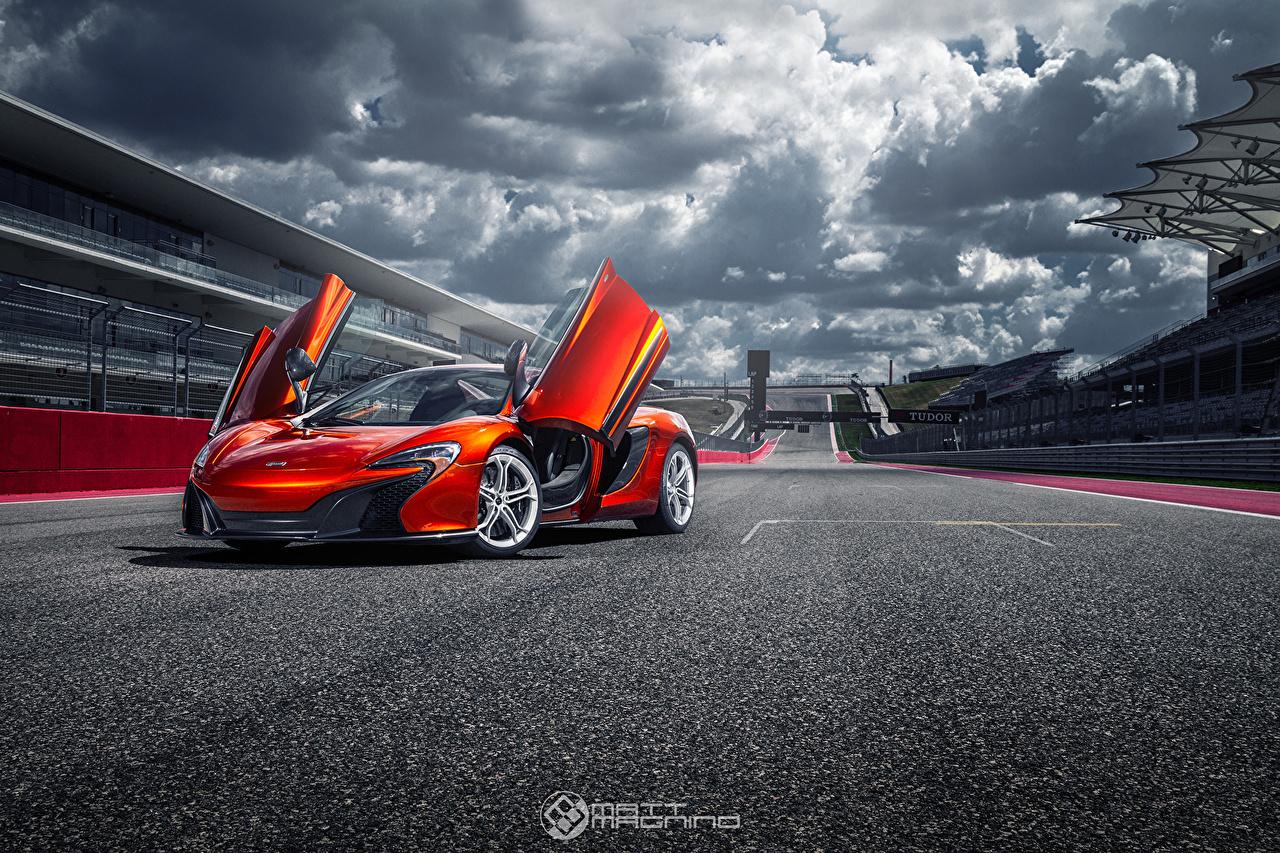 McLaren 650S Nuvem Asfalto Porta aberta carro, automóvel, automóveis Carros