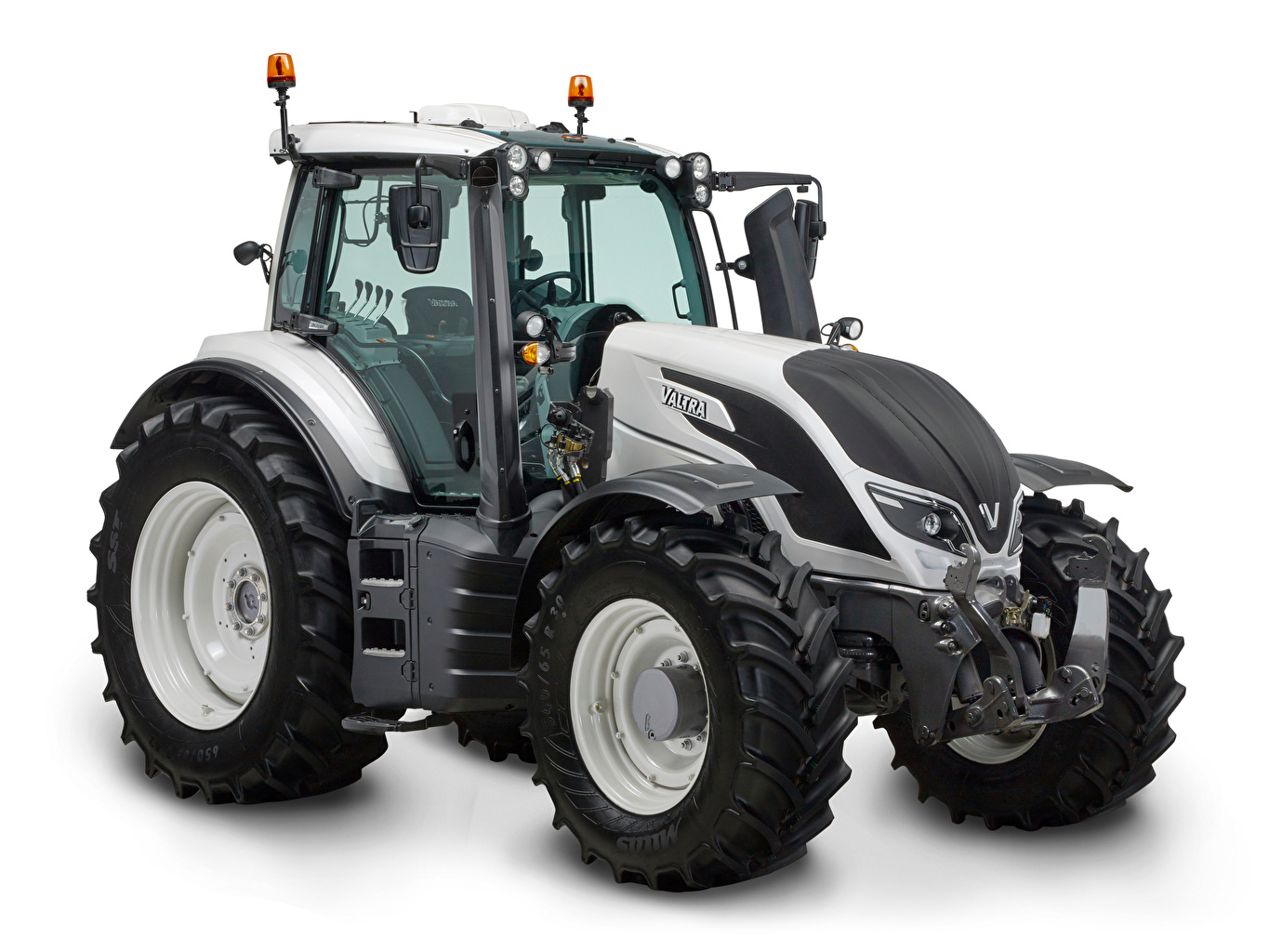 Photo tractors Valtra T254 gray White background Tractor Grey