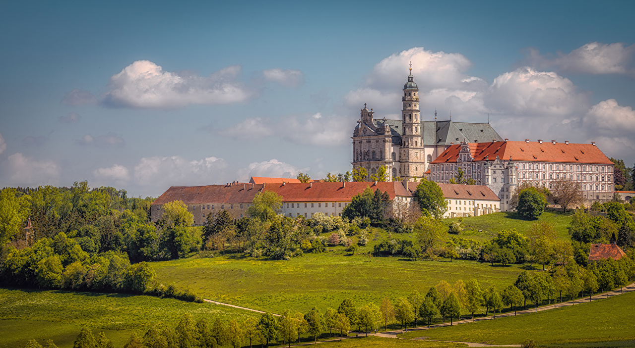 Images Church Monastery Germany Neresheim Abbey Cities Building Landscape design Houses