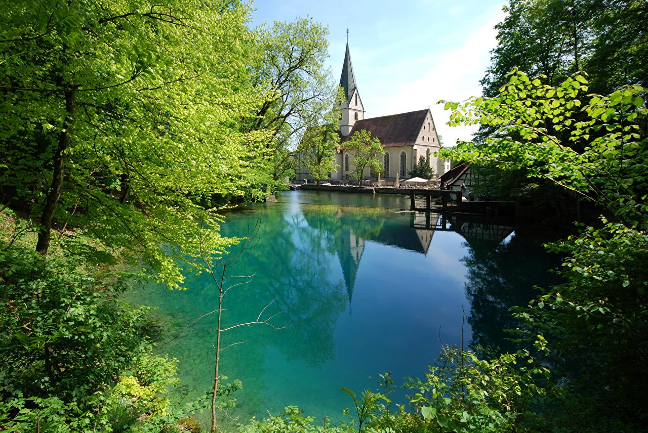 Fonds d'ecran Allemagne Été Lac Blaubeuren Nature ...