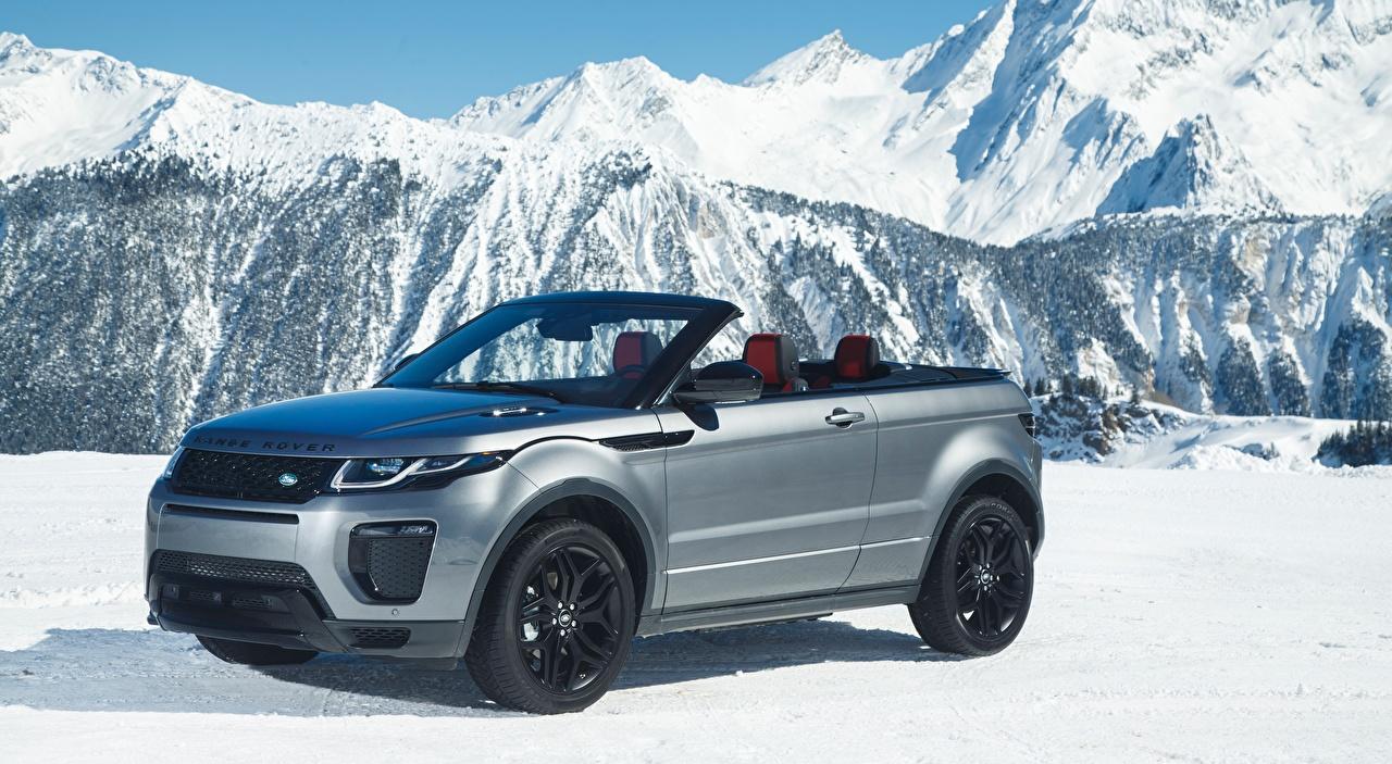 Images Land Rover Evoque, Convertible Si4 HSE Dynamic, 2016 Silver color Snow Metallic automobile Range Rover Cabriolet Cars auto