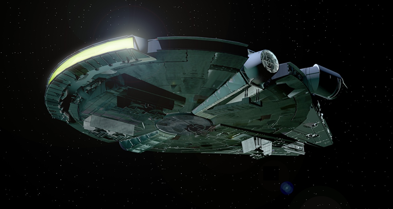 Desktop Wallpapers Star Wars Movies Starship Millennium Falcon 3d
