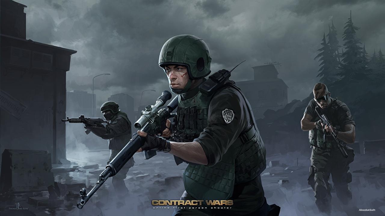 壁紙 兵 スナイパーライフル ミリタリーヘルメット Contract Wars Bear Usec 三 3 ヘルメット ゲーム ダウンロード 写真