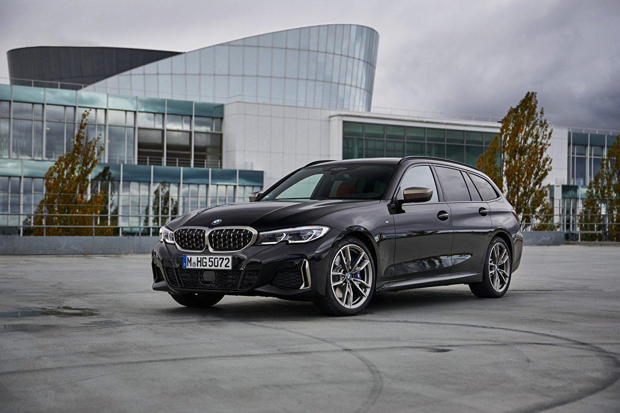 Bilder BMW Kombi 2019 M340i xDrive Touring Worldwide graues automobil Grau graue auto Autos