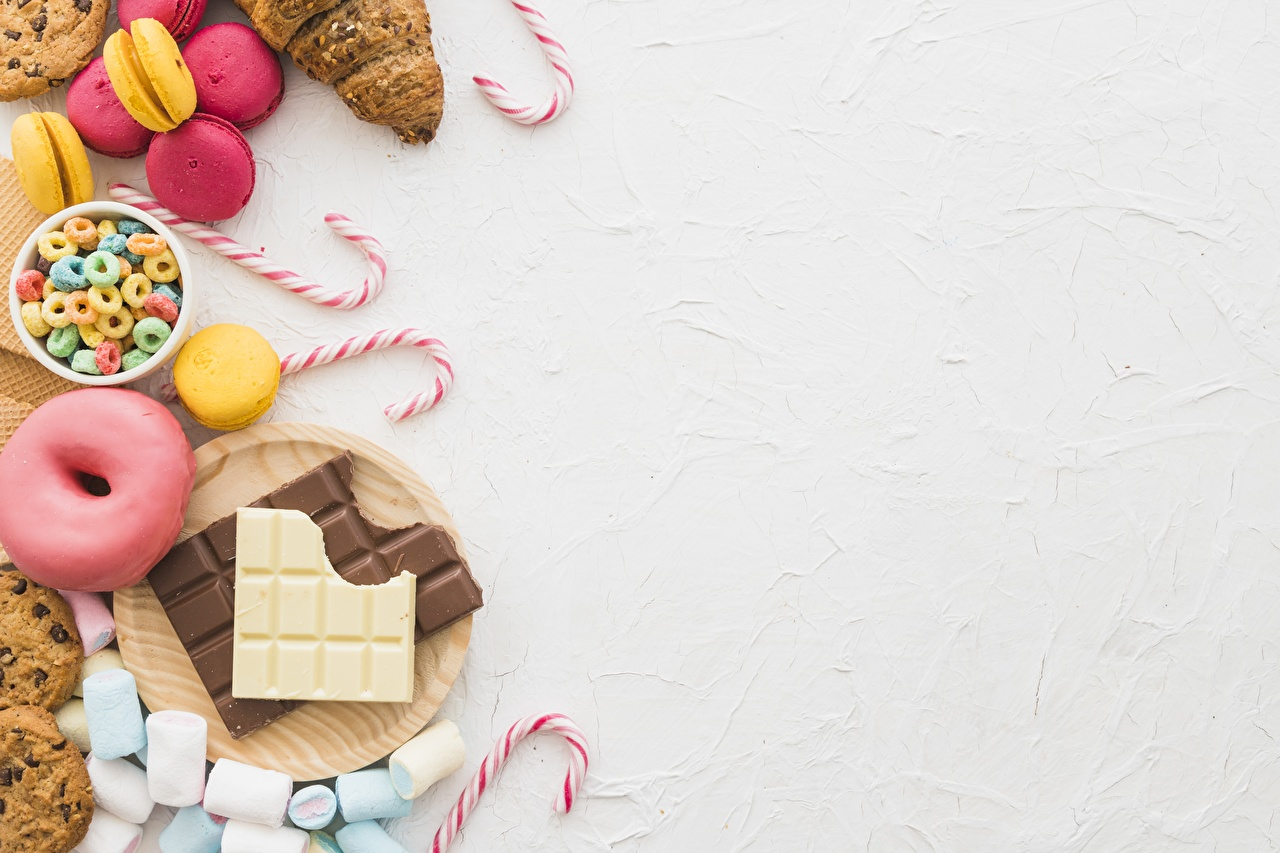 Desktop Wallpapers Chocolate bar Donuts Lollipop Marshmallow Food Template greeting card Sweets Doughnut confectionery