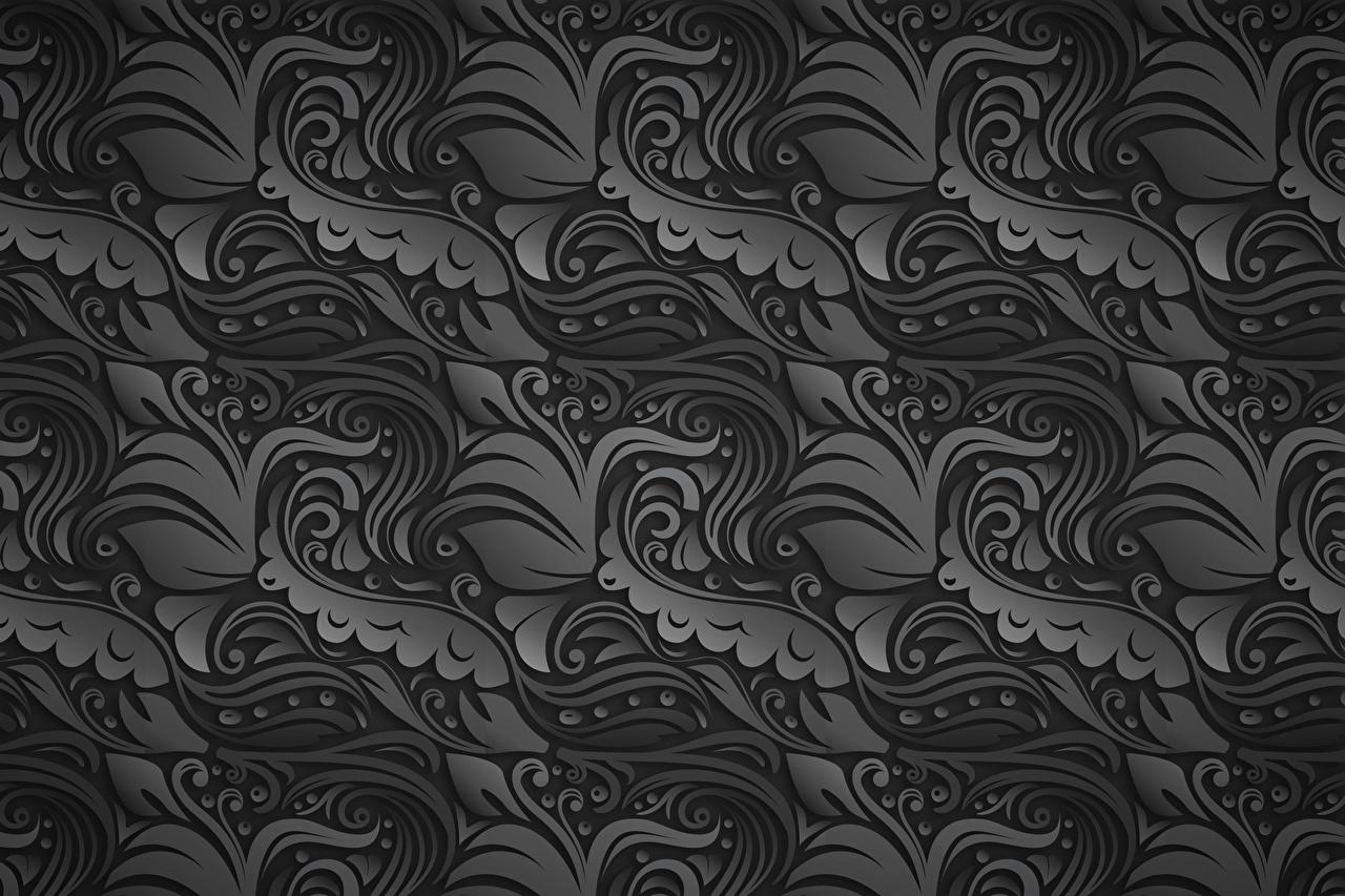 Desktop Hintergrundbilder Textur Tracerie Grau Ornament graue graues