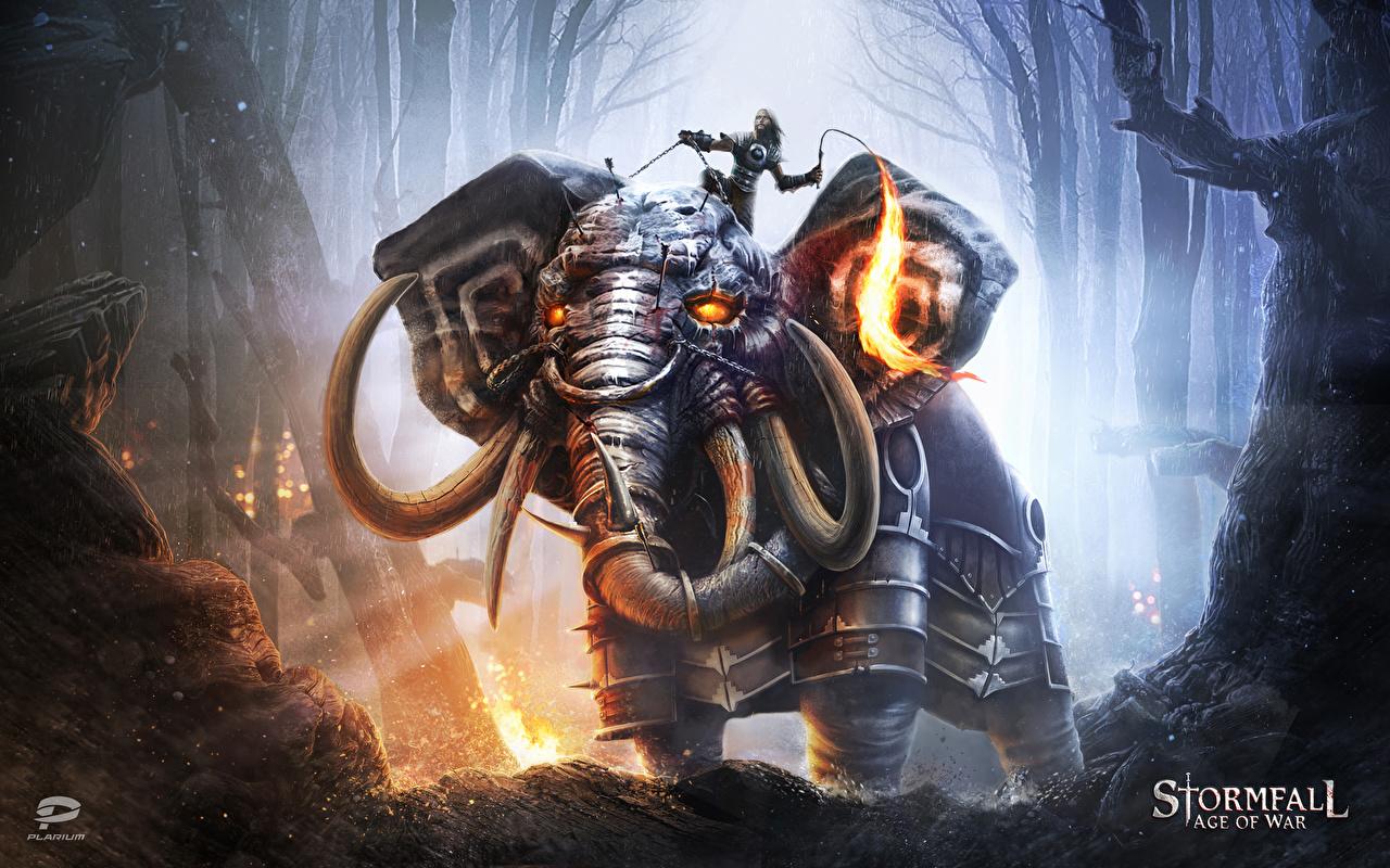 Photos Stormfall: Age of War Armor Elephants Warriors Fantasy vdeo game armour elephant warrior Games