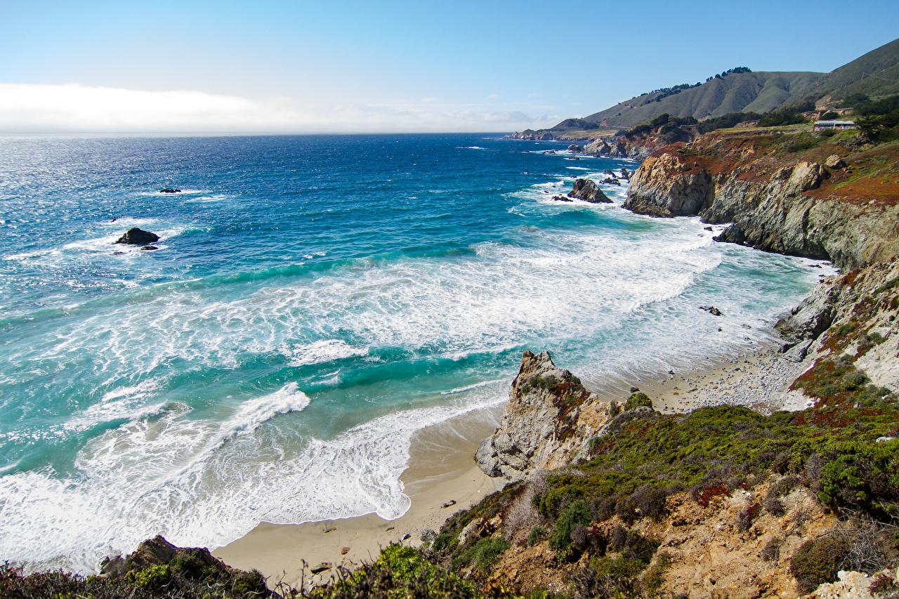 Desktop Wallpapers California USA Ocean Nature Coast