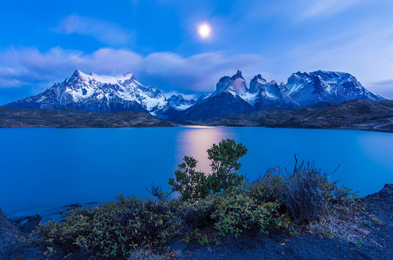 Fotos Chile Torres del Paine Natur Sonne Gebirge Himmel Hügel Landschaftsfotografie Flusse