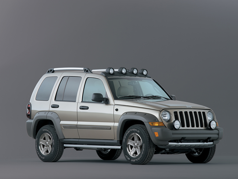 Photo Jeep SUV Liberty Renegade, 2004-2006 gray Cars Metallic Gray background Sport utility vehicle Grey auto automobile