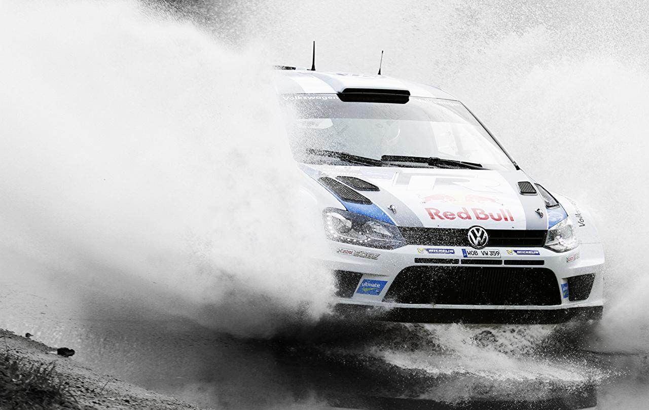Foto Volkswagen Rallye Polo WRC Sport Bewegung Spritzer Autos