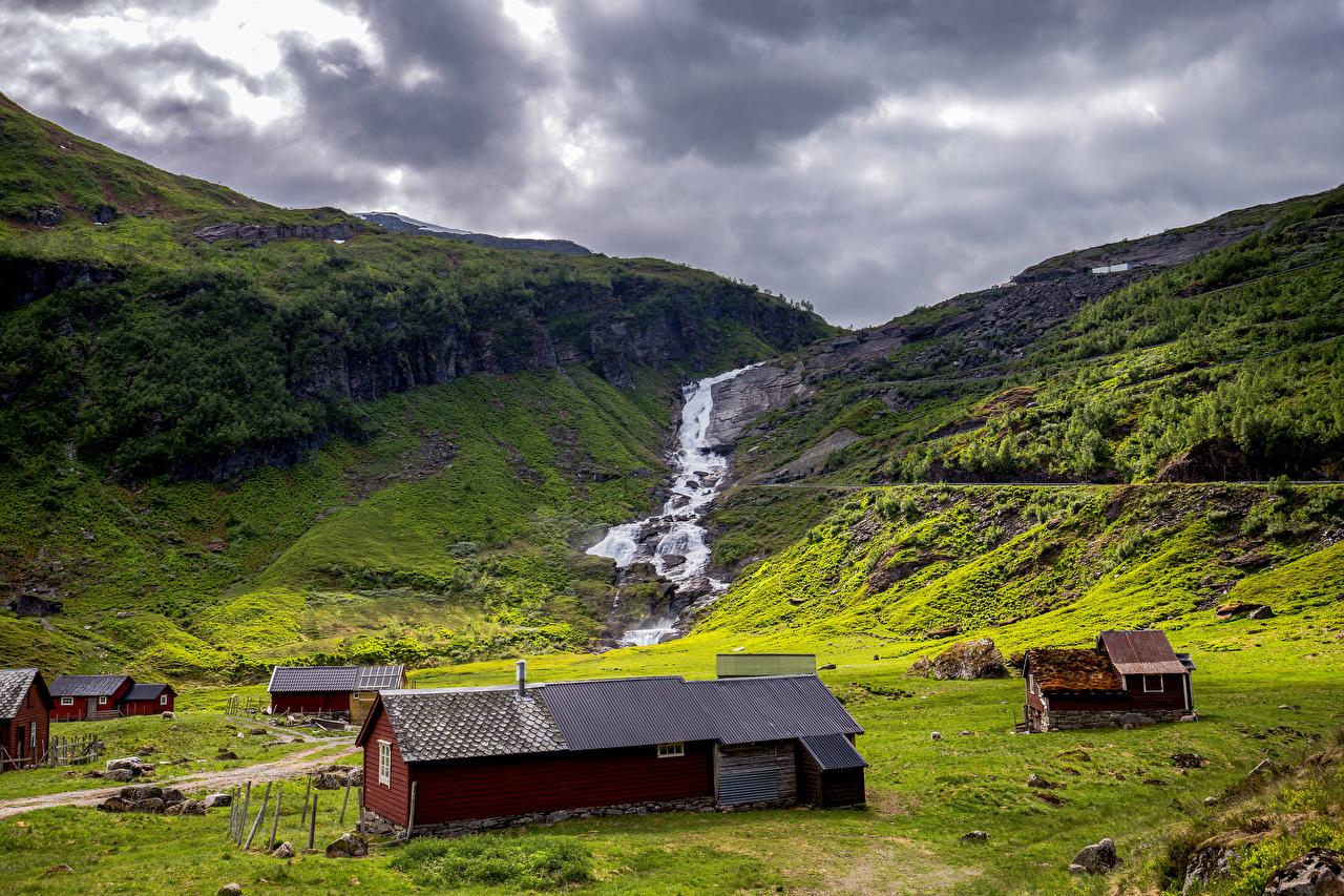 Bilder Lofoten Norwegen Berg Natur Bäche Wolke Bach Gebirge