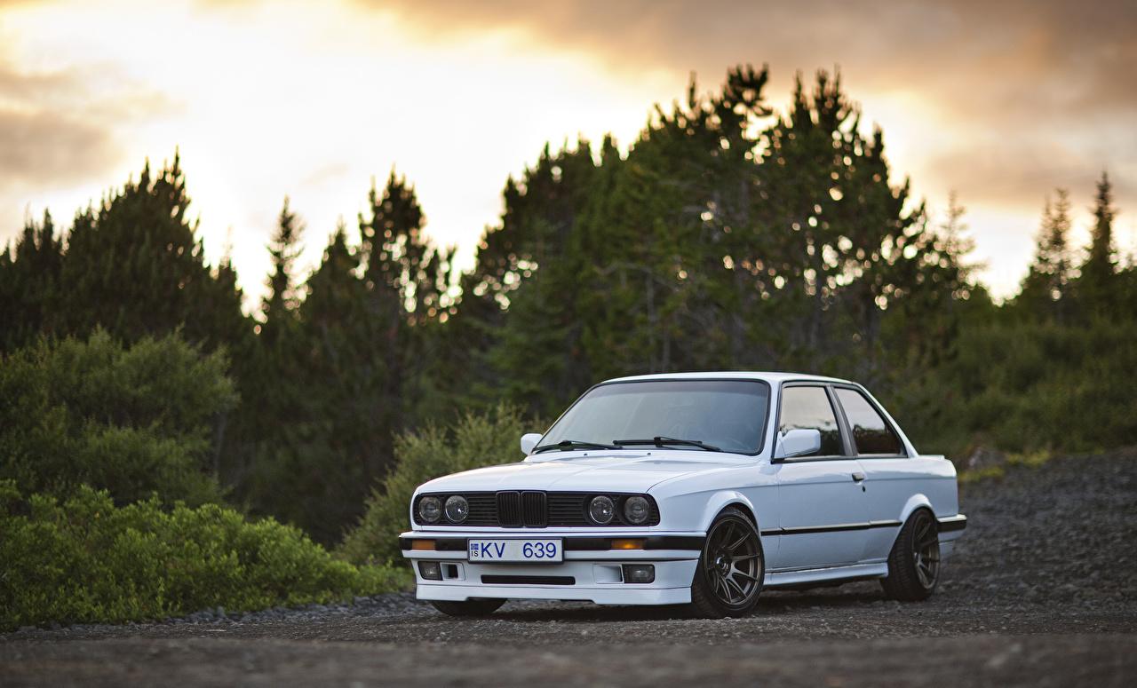 Photo BMW E30 325i White Cars auto automobile