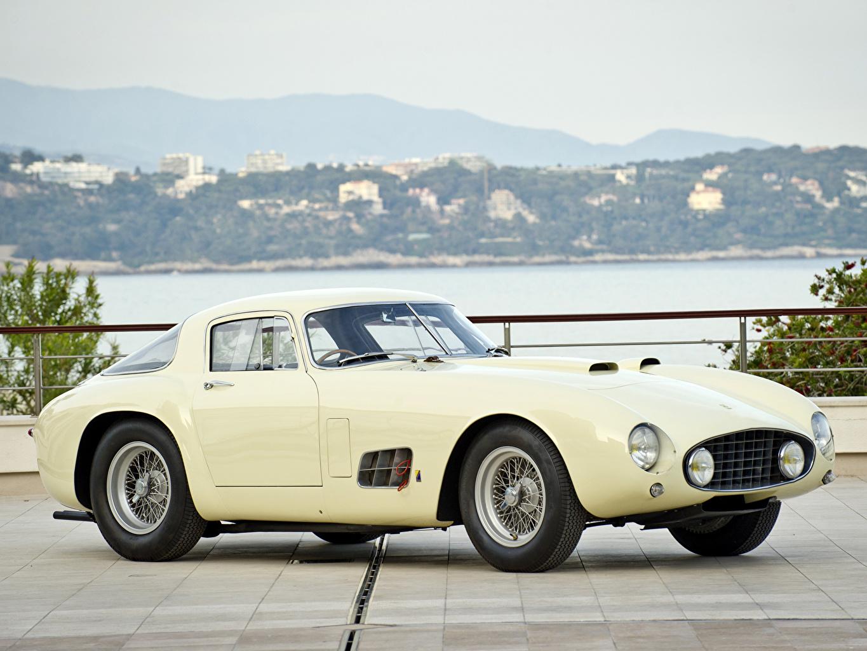 Picture Ferrari 1955 410 Berlinetta Speciale White Antique Auto