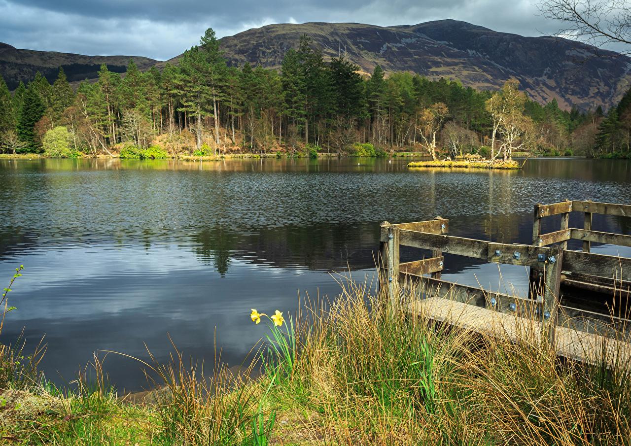 Fotos Schottland Glencoe Lochan Natur Gebirge Gras Flusse