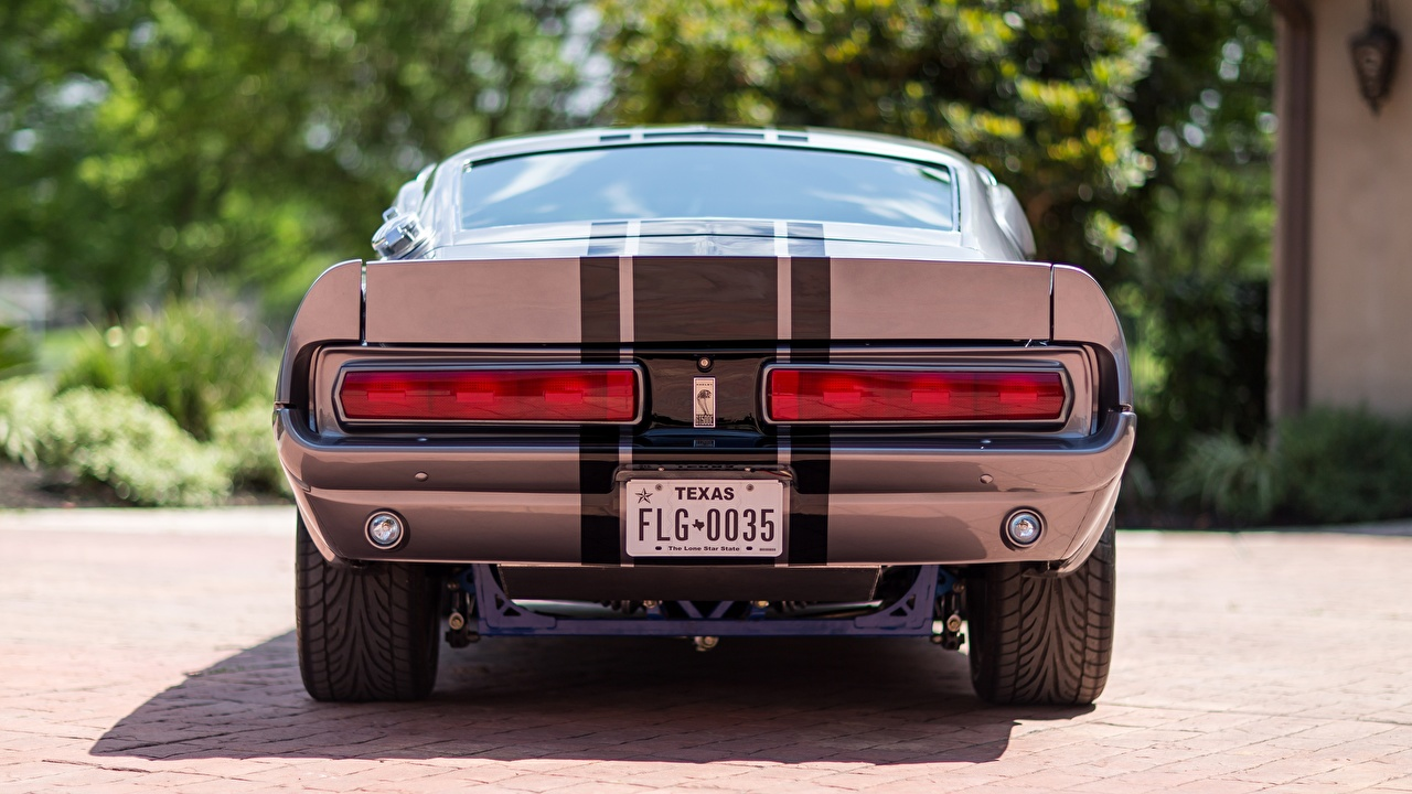 Images Ford 1967 Mustang GT500E Shelby Eleanor Cars Stripes Back view auto automobile