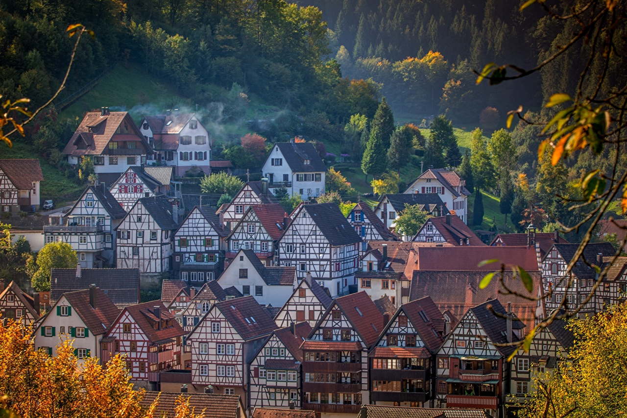 Image Germany Village Houses Cities Building
