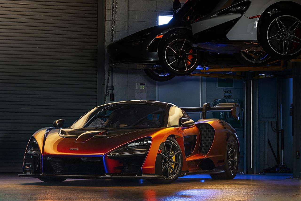 McLaren 2018 MSO Senna Laranja carro, automóvel, automóveis Carros