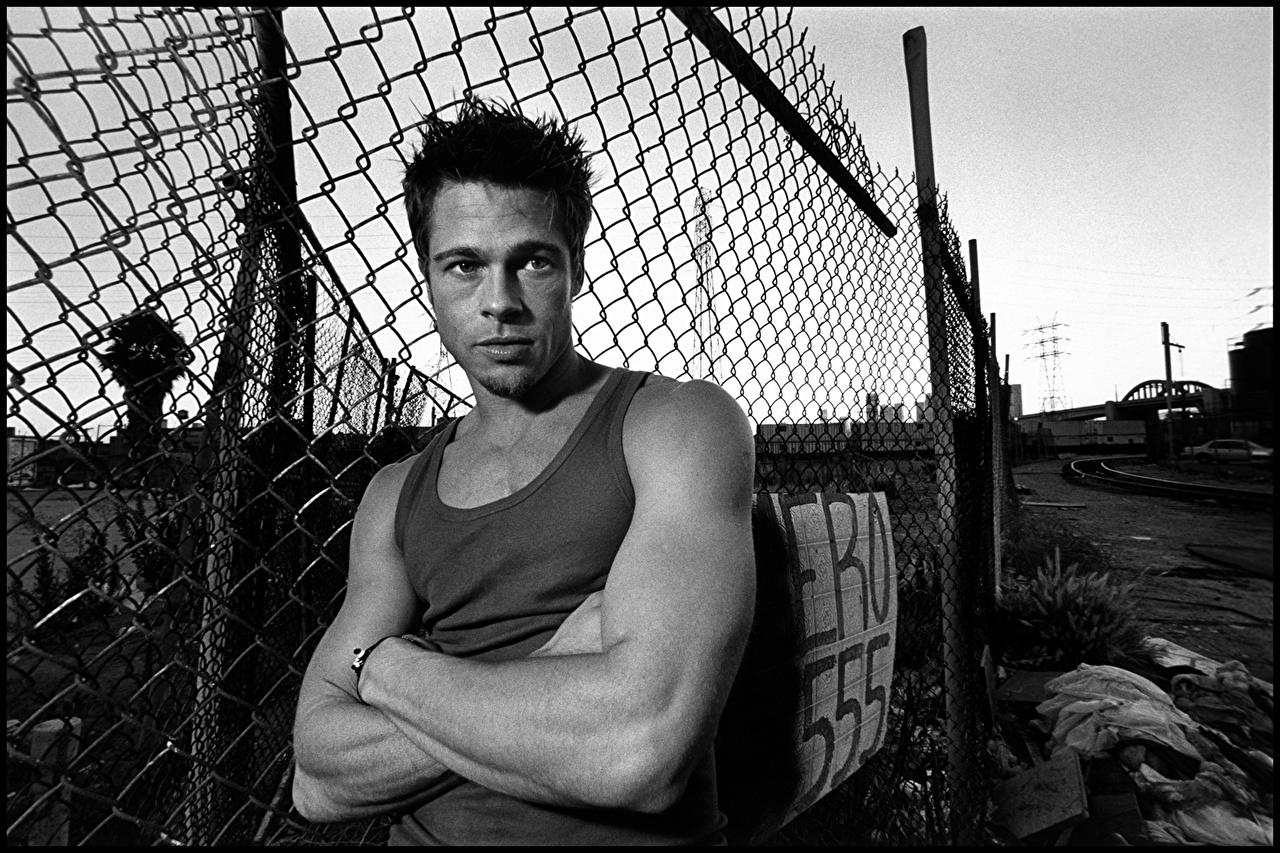 Images Brad Pitt Men Fence Singlet Celebrities Man Sleeveless shirt