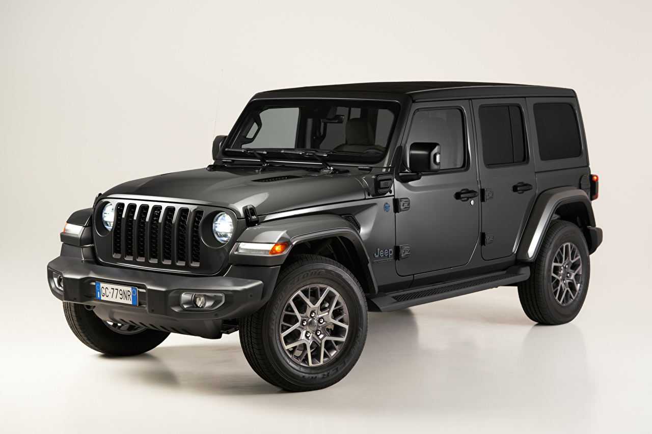 Photos Jeep Sport utility vehicle Wrangler Unlimited 4xe 'First Edition', EU-spec, (JL), 2021 Grey auto SUV gray Cars automobile